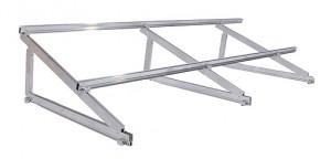 Estructura para módulos fotovoltaicos con triángulo inclinado