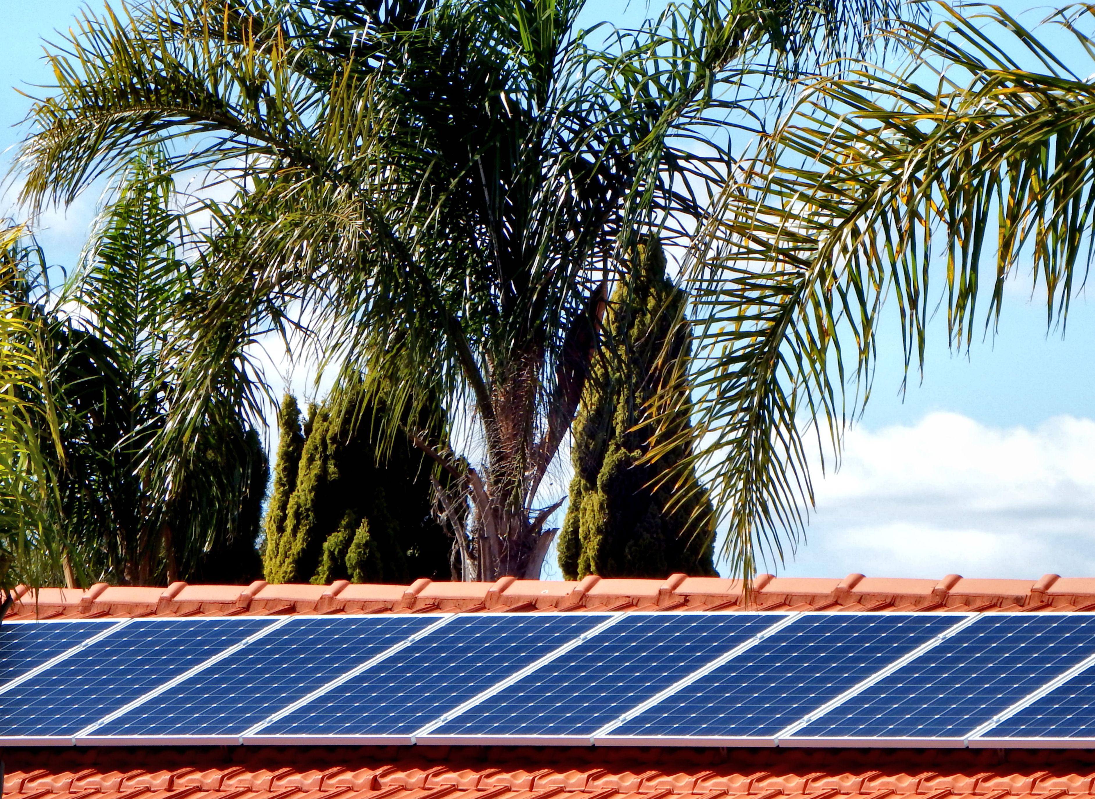 Estructura solar zona de sol