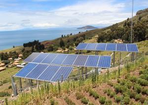 Instalación solar acantilado