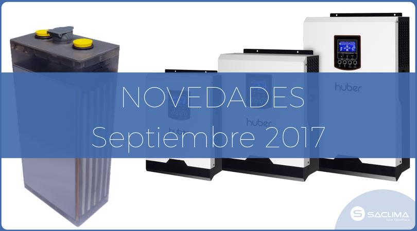 Novedades: Septiembre 2017