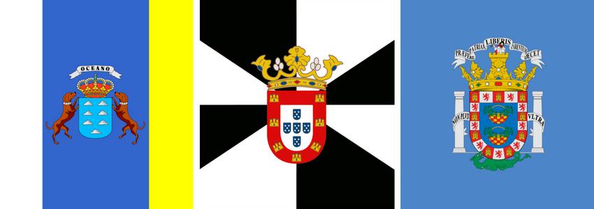 Banderas Canarias, Ceuta y Melilla