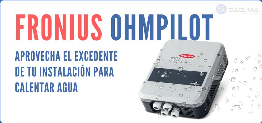 Descubre el nuevo Fronius Ohmpilot