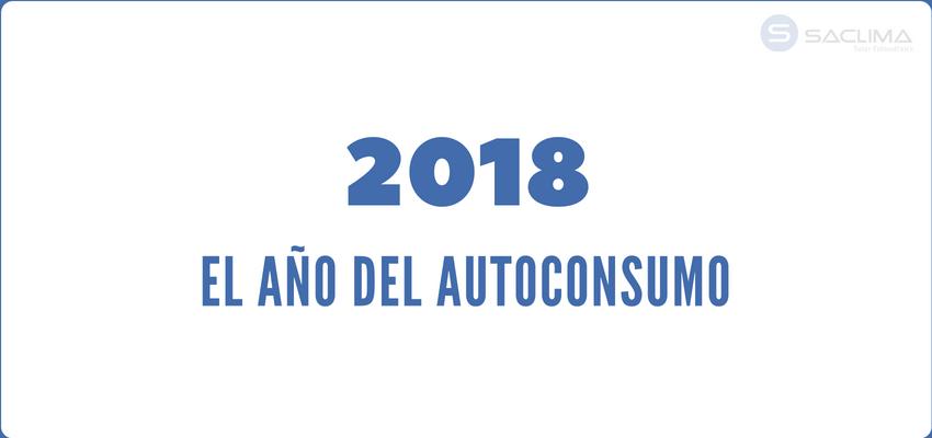 El autoconsumo, en liza en 2018