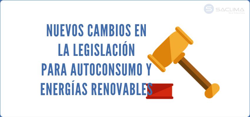 Nueva legislación para el autoconsumo fotovoltaico